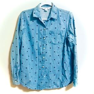 Chambray Polka Dot Shirt